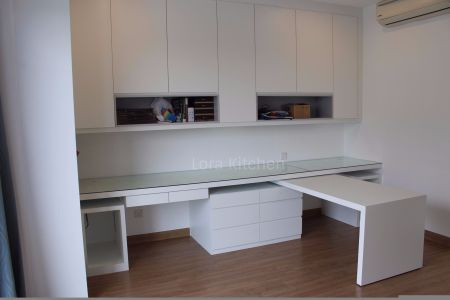 Lora Kitchen Design -  Study Table With Book Cabinet